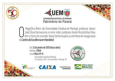 Convite - Inauguração do Bloco M-15