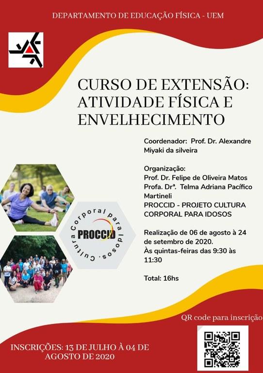 Curso de Extensão - Atividade Física e Envelhecimento.