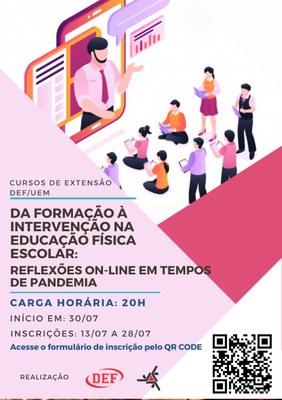 Curso de Extensão - Da Formação a Intervenção na Educação Física Escolar: Reflexões Online em Tempos de Pandemia.