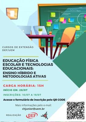 Curso de Extensão - Educação Física Escolar e Tecnologias Educacionais: Ensino Híbrido e Metodologias Ativa.